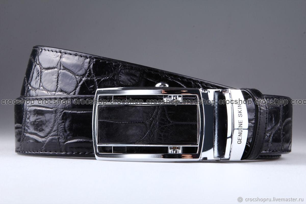 Crocodile leather belt IMA3007B, Straps, Moscow,  Фото №1