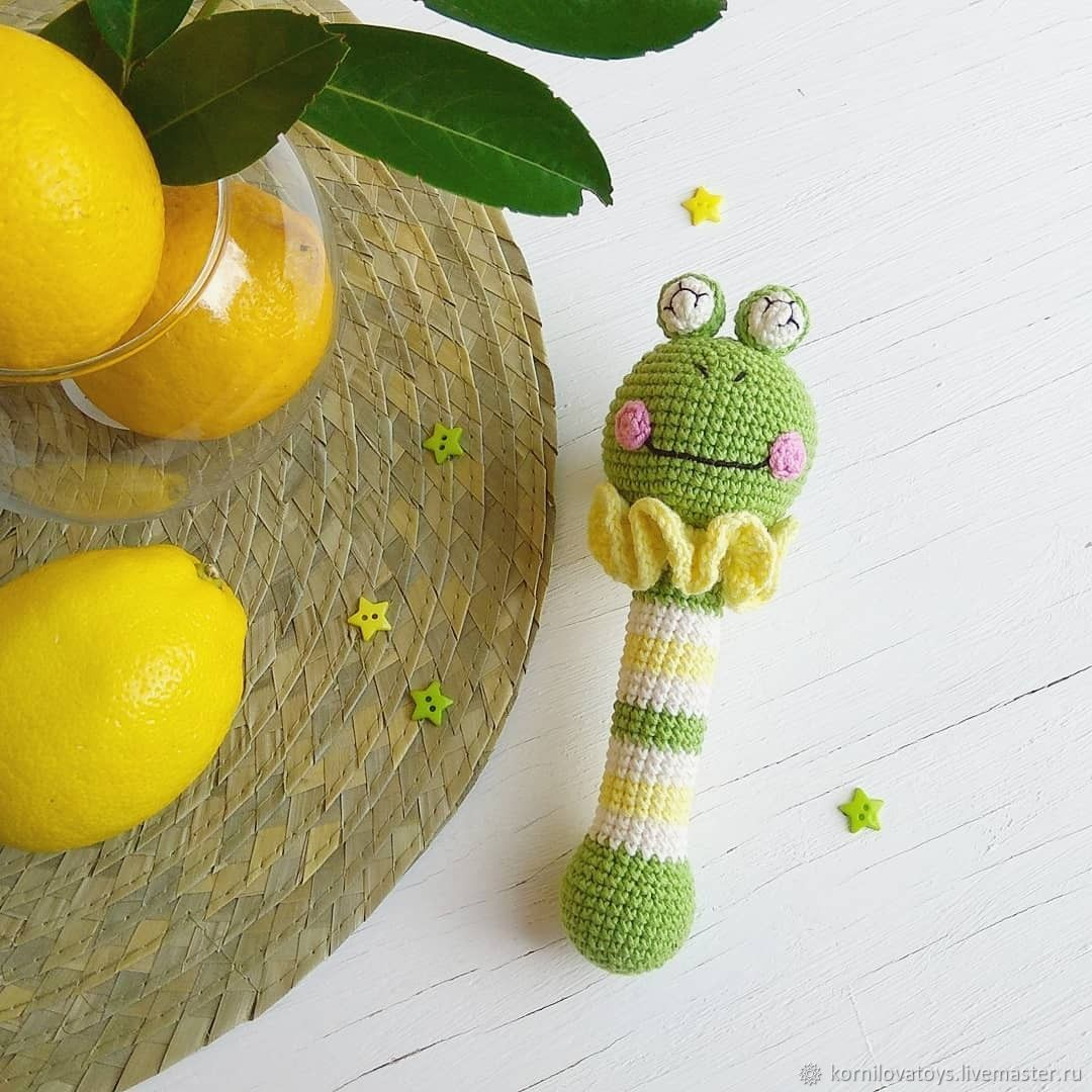 Игрушки: Вязаные погремушки. Грызунки, Развивающие игрушки, Симферополь, Фото №1