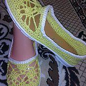 Обувь ручной работы handmade. Livemaster - original item Flats in a Sunny mood. Handmade.