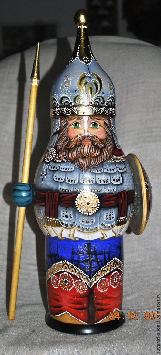 `Русский богатырь`.Футляр для подарка мужчине,мальчику.Прекрасно вмещается бутылка  шампанского(и любой другой подарок,в том числе и ребёнку!)