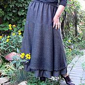 Одежда handmade. Livemaster - original item Autumn skirt tweed. Handmade.