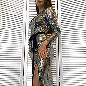 Одежда ручной работы. Ярмарка Мастеров - ручная работа Серебристое вечернее платье. Handmade.
