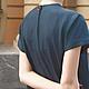 Платья ручной работы. Платье из льна темно-синего цвета Карп. Татьяна Гракова. Ярмарка Мастеров. Платье летнее
