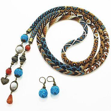 Decorations handmade. Livemaster - original item Lariat of beads Mirages of the desert. Handmade.