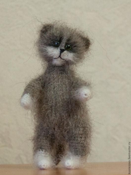 Игрушки животные, ручной работы. Ярмарка Мастеров - ручная работа. Купить Пушистые котики. Handmade. Комбинированный, вязание на заказ