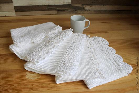 Кухня ручной работы. Ярмарка Мастеров - ручная работа. Купить кухонное полотенце, полотенце для кухни полотенце кухонное белый. Handmade.