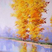 Картины ручной работы. Ярмарка Мастеров - ручная работа Прозрачная Осень. Handmade.