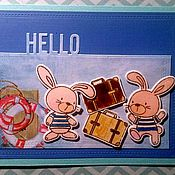 """Открытки ручной работы. Ярмарка Мастеров - ручная работа Открытка """"А ну-ка убери свой чемоданчик!"""". Handmade."""