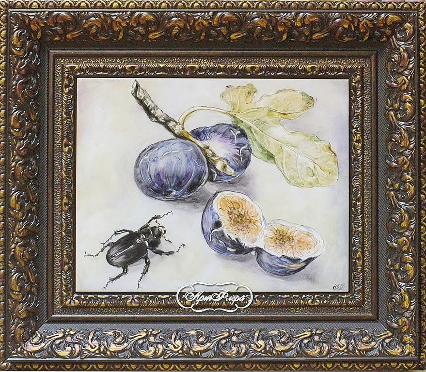 Picture on the tile beetle and Fig, Pictures, Kazan,  Фото №1