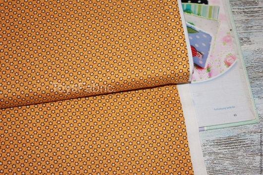 Шитье ручной работы. Ярмарка Мастеров - ручная работа. Купить Ткань корейский хлопок для пэчворка Мини цветочки на желтом (20504). Handmade.