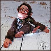 """Куклы и игрушки ручной работы. Ярмарка Мастеров - ручная работа Обезьяна """"Франт"""". Handmade."""