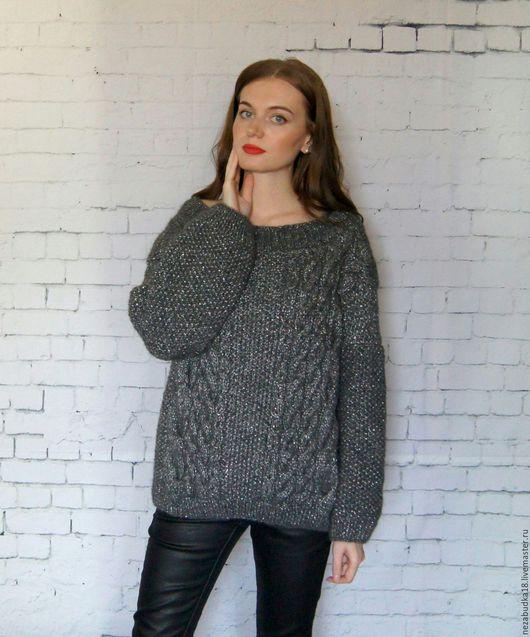 Кофты и свитера ручной работы. Ярмарка Мастеров - ручная работа. Купить NEW! Объемный свитер с блеском! Вещь №57. Handmade.
