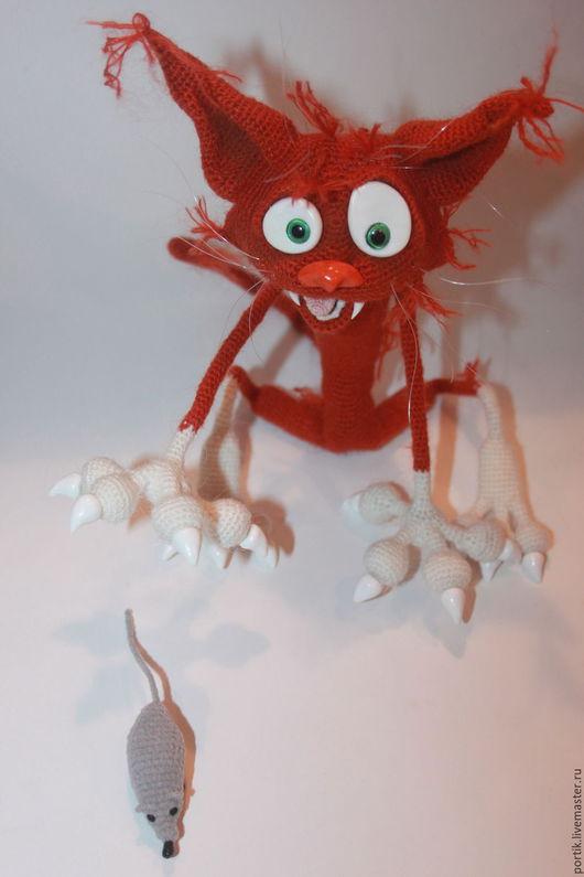 Игрушки животные, ручной работы. Ярмарка Мастеров - ручная работа. Купить Кот Аристарх. Handmade. Рыжий, коты ручной работы