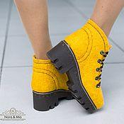 Обувь ручной работы handmade. Livemaster - original item Boots felted Sunny day. Handmade.