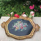 Винтаж handmade. Livemaster - original item Florentine tray