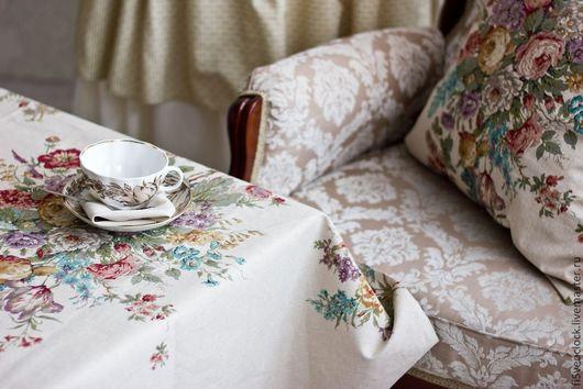 Текстиль, ковры ручной работы. Ярмарка Мастеров - ручная работа. Купить Скатерть Фламандский букет. Handmade. Скатерть, прованс
