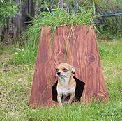 Для домашних животных, handmade. Livemaster - original item Booth with a mini garden for your pet cedar. Handmade.