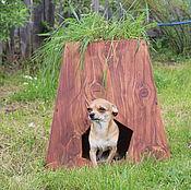 Для домашних животных, handmade. Livemaster - original item Booth with a mini garden for your pet cedar. Handmade.