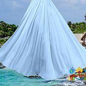 """Одежда ручной работы. Ярмарка Мастеров - ручная работа Голубая шифоновая юбка в пол """"Индонезия"""". Handmade."""