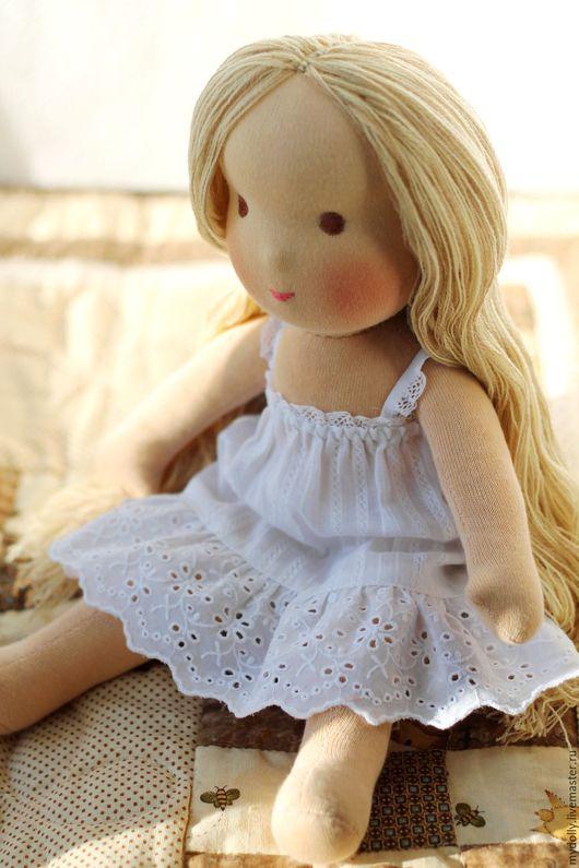 Вальдорфская игрушка ручной работы. Ярмарка Мастеров - ручная работа. Купить Вальдорфская кукла- голышка (35 см). Handmade.