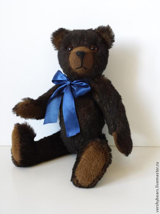 Мишки Тедди ручной работы. Ярмарка Мастеров - ручная работа. Купить мишка с синим бантом. Handmade. Мишка тедди