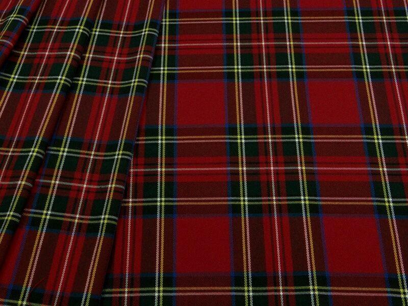 Ткань костюмная клетка стрейч красная , КЛ 01 цв.3, Ткани, Москва,  Фото №1