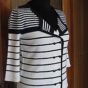 Одежда ручной работы. Ярмарка Мастеров - ручная работа Жакет в морском стиле. Handmade.