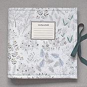 Канцелярские товары handmade. Livemaster - original item Reserve! Square mini album for herbarium White forest (20 plants). Handmade.