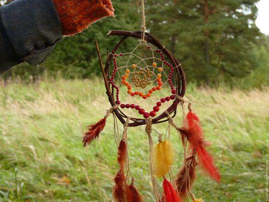 Ловцы снов ручной работы. Ярмарка Мастеров - ручная работа. Купить Осеннее приключение. Handmade. Комбинированный, осень, ловец сновидений