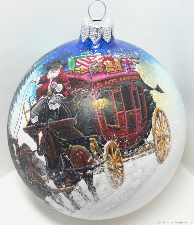 Новый год 2019 ручной работы. Ярмарка Мастеров - ручная работа. Купить Санта-Клаус в пути. Handmade. Новый Год
