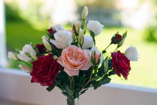 Цветы ручной работы. Ярмарка Мастеров - ручная работа. Купить Староанглийские плетистые розы из холодного фарфора (полимерной глины). Handmade.