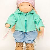 Куклы и игрушки handmade. Livemaster - original item Doll from fabric. Soft doll. a gift to the girl.. Handmade.