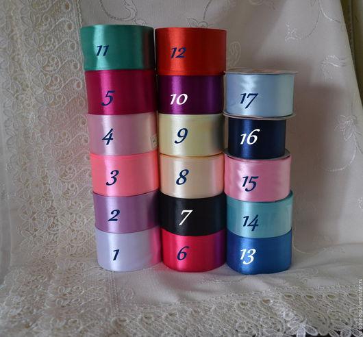 Другие виды рукоделия ручной работы. Ярмарка Мастеров - ручная работа. Купить Атласные ленты 50 мм. Handmade. Комбинированный