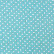 Материалы для творчества ручной работы. Ярмарка Мастеров - ручная работа Ткань Хлопок Горошек бирюзово-голубой. Handmade.