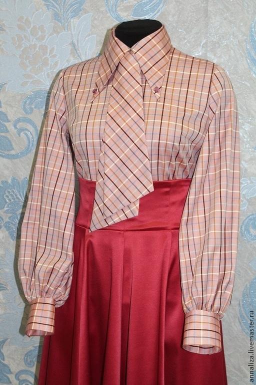 """Блузки ручной работы. Ярмарка Мастеров - ручная работа. Купить Блузка в винтажном стиле """"Успешная карьера 2"""". Handmade. Блузка"""