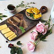 Для дома и интерьера handmade. Livemaster - original item Serving board for serving snacks, cheese, slicing.- pies.. Handmade.