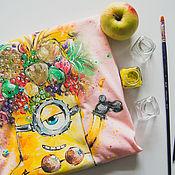 Одежда handmade. Livemaster - original item t-shirt Minion. Handmade.