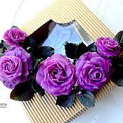 """Украшения ручной работы. Ярмарка Мастеров - ручная работа Ожерелье """"Фиолетовые розы"""". Handmade."""