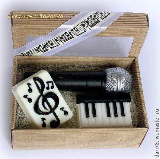 """Мыло ручной работы. Ярмарка Мастеров - ручная работа. Купить Набор мыла ручной работы """"Музыка"""".. Handmade. Чёрно-белый"""