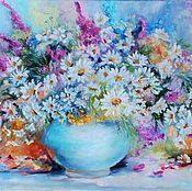 Картины и панно handmade. Livemaster - original item Carcinomata.Wild flowers ,daisies