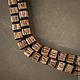 Для украшений ручной работы. Заказать Бусины-кубики из пальмового дерева с шапочками из черного рога. Королёк 2 (koroleck2). Ярмарка Мастеров.