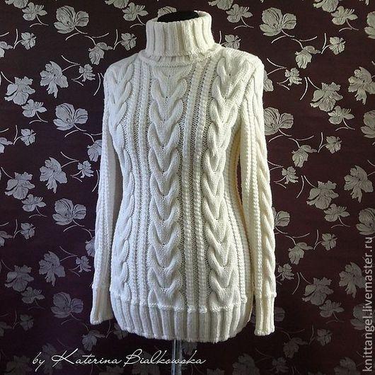 """Кофты и свитера ручной работы. Ярмарка Мастеров - ручная работа. Купить Зимний свитер """"Bianco"""". Handmade. Белый, зимний свитер"""