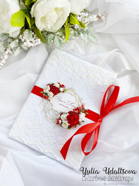 Папка для свидетельства в красном цвете, Аксессуары, Санкт-Петербург,  Фото №1