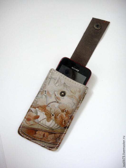 """Для телефонов ручной работы. Ярмарка Мастеров - ручная работа. Купить Чехол для сотового телефона """"Цветы"""". Handmade. Разноцветный"""