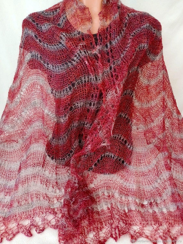 Ажурный пуховый шарф -палантин, Палантины, Москва,  Фото №1