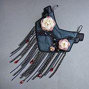 Украшения handmade. Livemaster - original item Necklace HEART OF THE WITCH crystals, beads, beads, chains. Handmade.