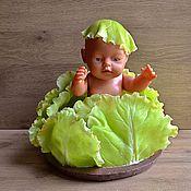 Цветы и флористика ручной работы. Ярмарка Мастеров - ручная работа Листья капусты из полимерной глины Сочный Зеленый. Handmade.