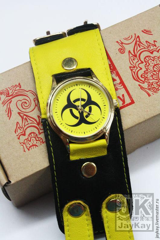 """Часы ручной работы. Ярмарка Мастеров - ручная работа. Купить Наручные часы JK  """"Biohazard"""". Handmade. Часы"""