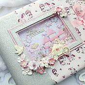 Канцелярские товары handmade. Livemaster - original item Large photo album for baby 30cm-30cm. Handmade.