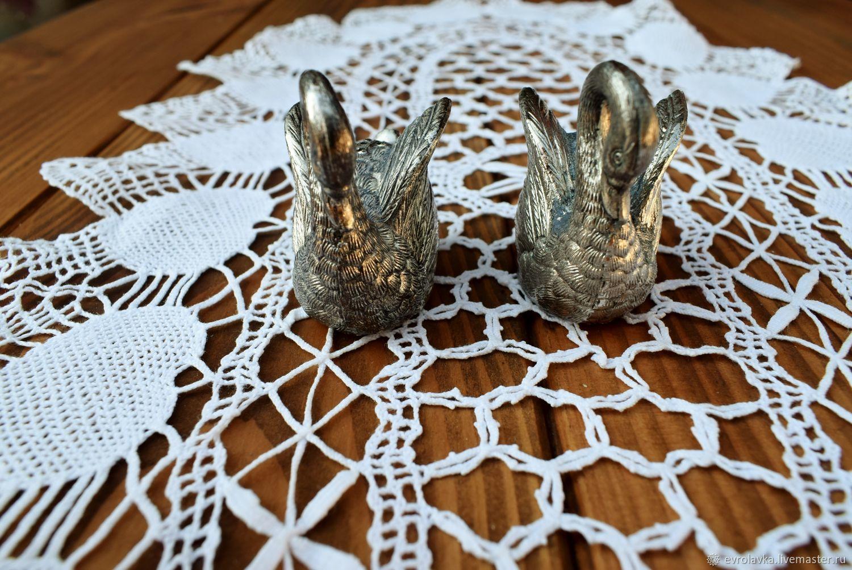 Antique metal swans ( Salt, pepper) Germany – shop online on ...